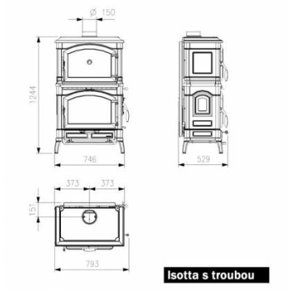 Krbová kamna Nordica Isotta Forno  s troubou